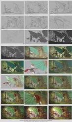 Dragons vs kittens - WIP chart by Marfrey