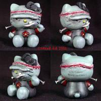 Hello Kitty Frankenstein  OOak by Undead-Art