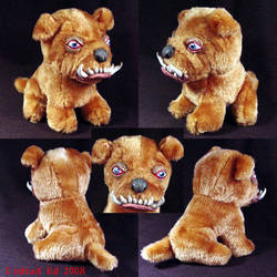 Badboybarney the bulldog ooak by Undead-Art