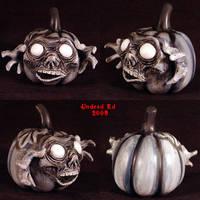 Haunt Pumpkin decoration ghost by Undead-Art