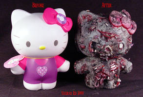 Zombie Hello Kitty compare by Undead-Art
