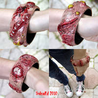 Rot Bracelet OOAK zombie by Undead-Art