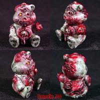 Killer Care Bear ROT BEAR OOAK by Undead-Art