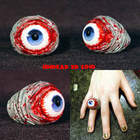 Rot Ring Blue Zombie evil eye by Undead-Art