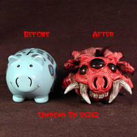 Rot Spider Pig Piggy Bank comp by Undead-Art