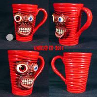 Zombie Deluxe Mug ooak by Undead-Art