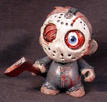 Munny Jason Friday the 13th Kid Robot OOAK Head an by Undead-Art