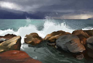 Daily Sketch #0059 - Rock Study by GhostlyCarrot