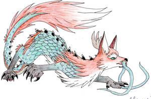 Oriental Fox Dragon by ShikaTheFox