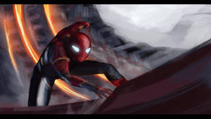 Spiderman Infinity war speed study by KateVsTheDrawing