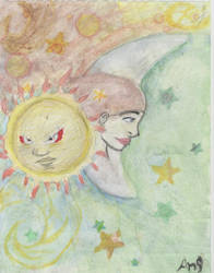 sun ! moon by kitty1066