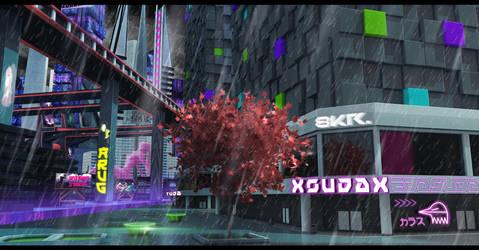 XSUDAX_Rain by Cosmonauto