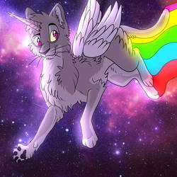 Galaxy Pegaunicat by CheshireWolf97