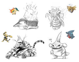 Pokey-Manns Sketches!! by rob-powell