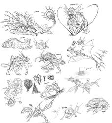 Colony Creatures Sketches by rob-powell