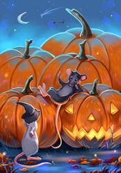 At the Pumpkin Patch by Mellodee
