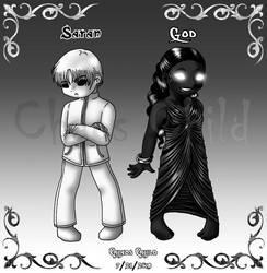 God and Satan - Concept by Chaos--Child