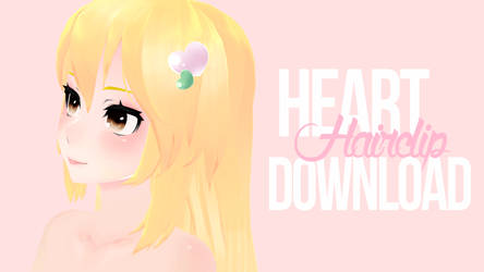 [MMD] Heart Hairclips DL by cutiebxt