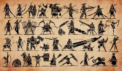 Mayan Warriors by tantaku