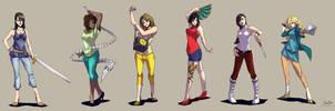 Commision Ladies~ by tantaku