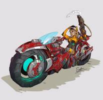 Red Bike by tantaku