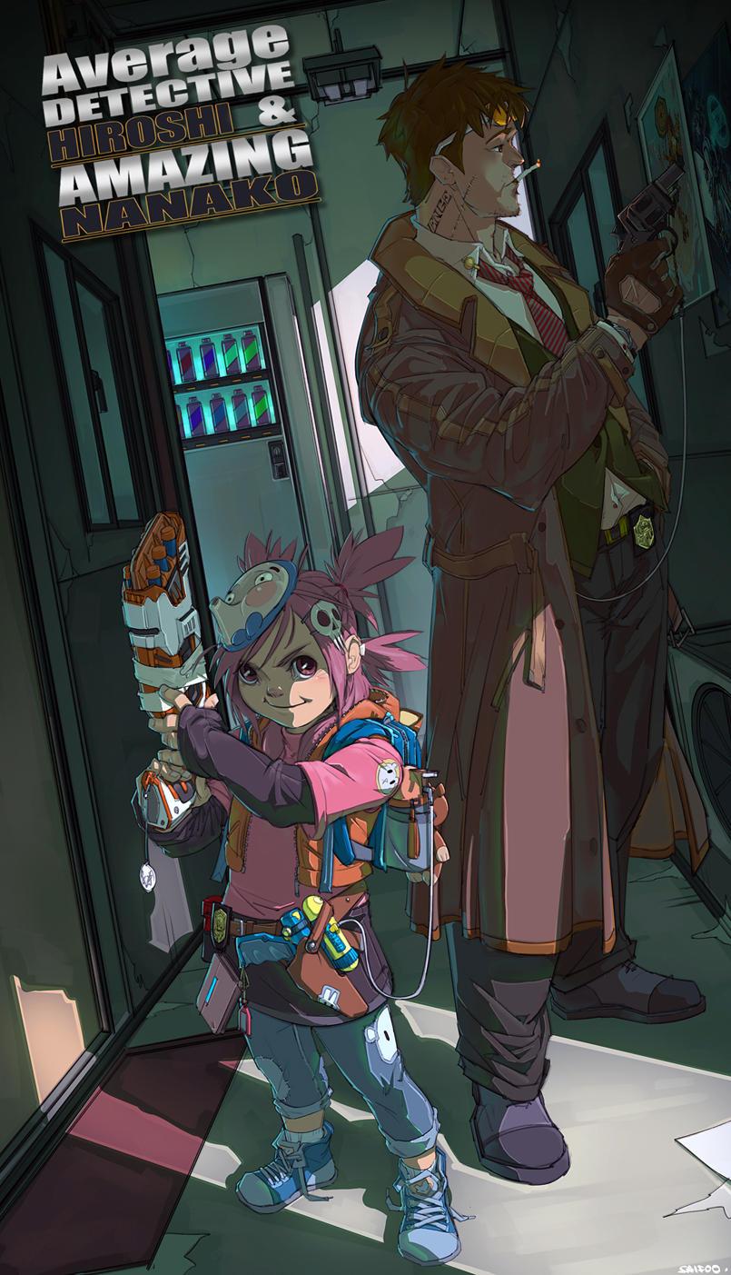 DetectiveHiroshiAndNanako by tantaku