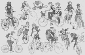 Random Sketch #3 -Bycycle by tantaku