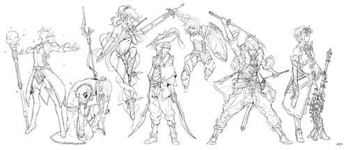 Random Sketch #5 by tantaku