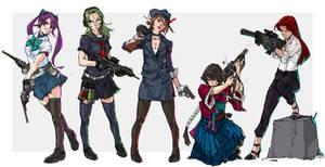 #22 Gungirl sketch by tantaku