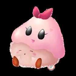 Kirby and Chuchu by SillyEwe