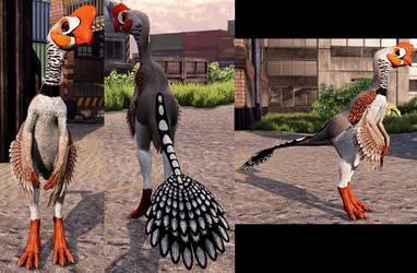 Zebra Finch Oviraptor Skin by SillyEwe