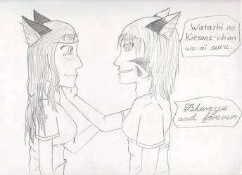 Kage and Kitsune by ToraKage-BlackLight