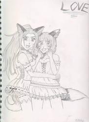 Kage and Kitsune 3 by ToraKage-BlackLight
