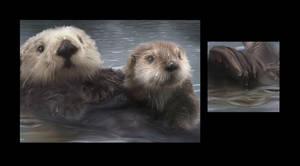 Spirit Otter Details by Tammara