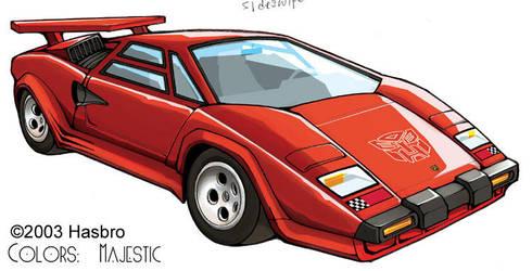 Transformers Sideswipe car by VulnePro