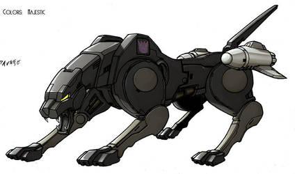 Transformers Ravage cat by VulnePro