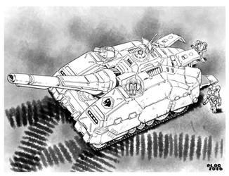 Battletech - Aithion Assault Transport. by sharlin