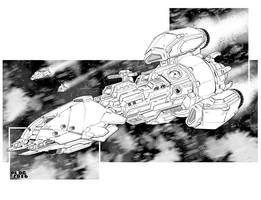 Battletech - Onslaught class Assault Frigate by sharlin