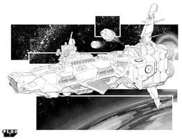 Battletech - Thresher Class Heavy Cruiser by sharlin