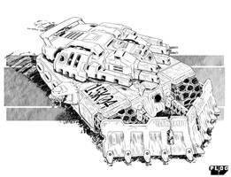 Iwisa Combat Vehicle. by sharlin
