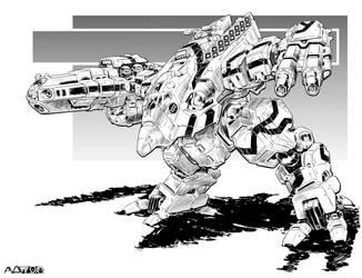 Battletech - Turkina II Assault Mech. by sharlin