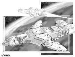Battletech - Roc class Assault DropShip. by sharlin