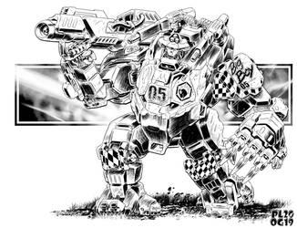 Battletech - Alecto Assault Battle Armour by sharlin