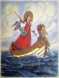 Princess on the sea by Cosaco