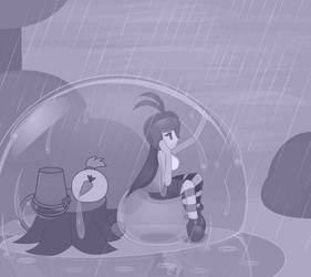 Waiting Out The Storm by WildBlueFantasy