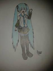 Hatsune Miku by emaurow