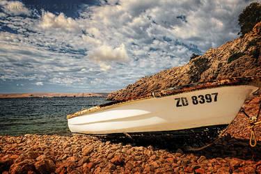 Beached Boat, Croatia by rudoma