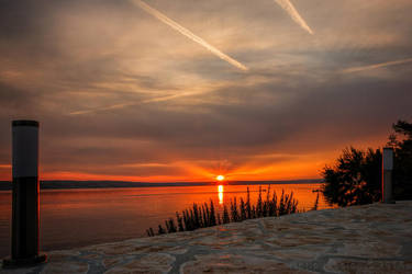 Sunset Baric Draga, Croatia by rudoma