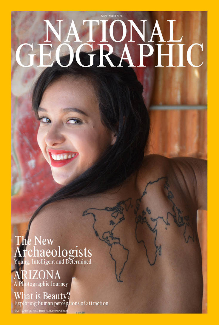 Jhonae on a faux Nat Geo cover by Saledin