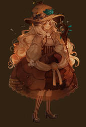 SET PRICE   Fossil Witch! [CLOSED]   + SPEEDPAINT by Hoshi-Pan